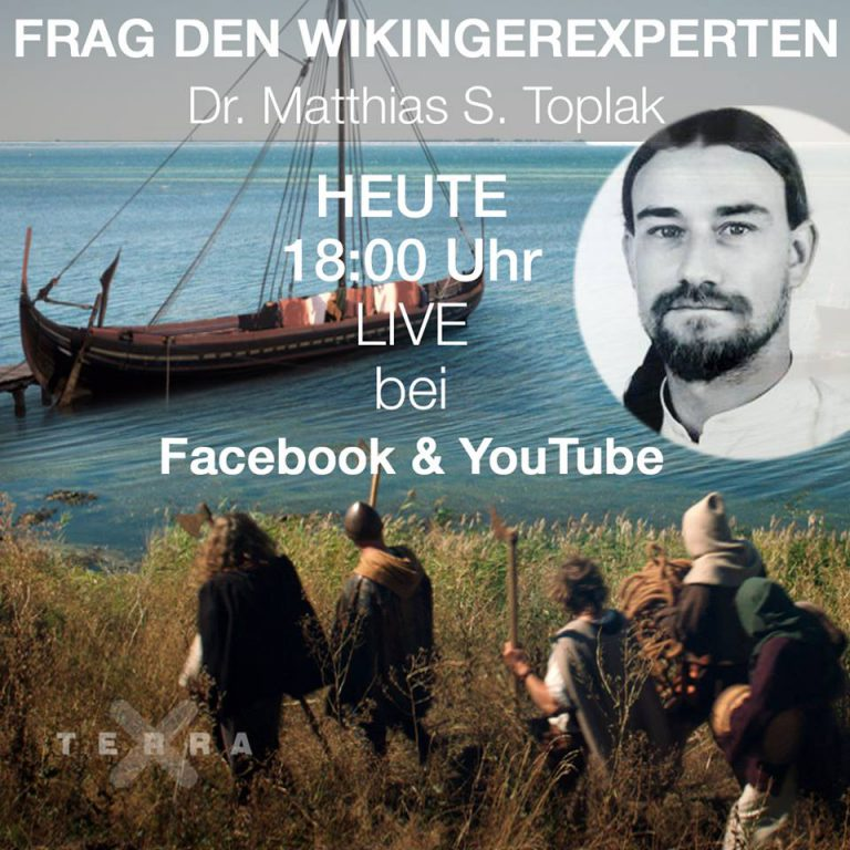 """Ask your Viking Age-Archaeologist on duty"" – Live-Interview zum Thema Wikinger bei Facebook und Youtube, am 05. April 2018"